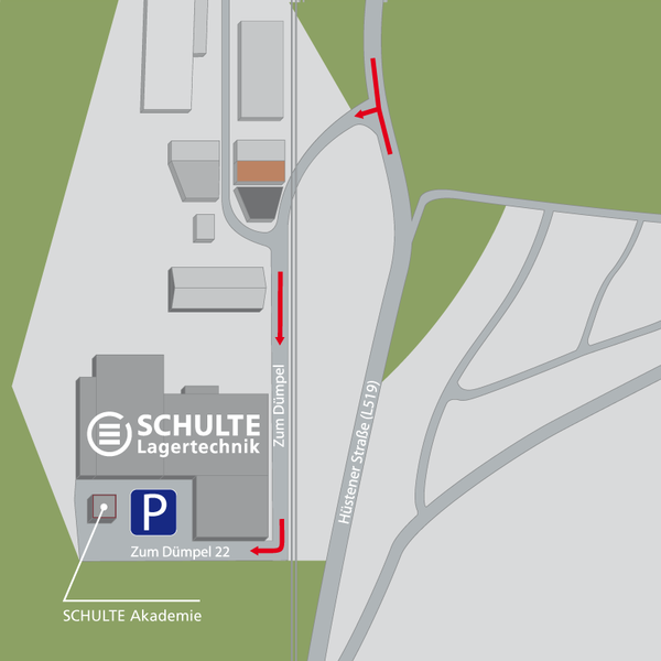 Directions to SCHULTE Lagertechnik