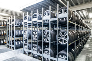 Tyre stores and automotive parts warehouses